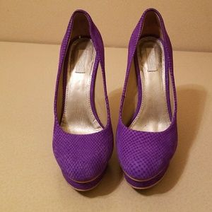 Rachel Roy purple suede shoes